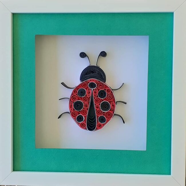 Lady Bug Quilling Paper Art Wall