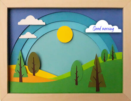 Framed Greeting Card, 3d Card, Mother's Day Card, Just Because Card