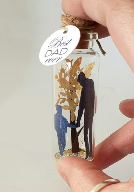 Message Bottle, Miniature, Diorama, Gift for Dad, Best Dad gift, Fathers Day
