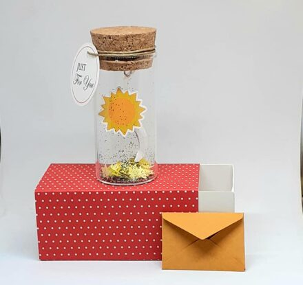 Sun and Moon, Tiny Message Bottle, Just for you Gift, Personalised Gift, Funny Card, Thank You Card
