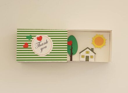 Message in a Box, Paper Art, Matchbox Gift, Diorama Scene, Mother Gift, Mom Gift