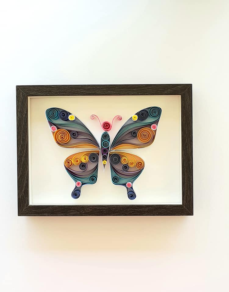Spring Butterfy, Gift, Paper Art, Wall Art, Homedecor, Quilling Art, Spring Colors, Butterfly, Insect Art